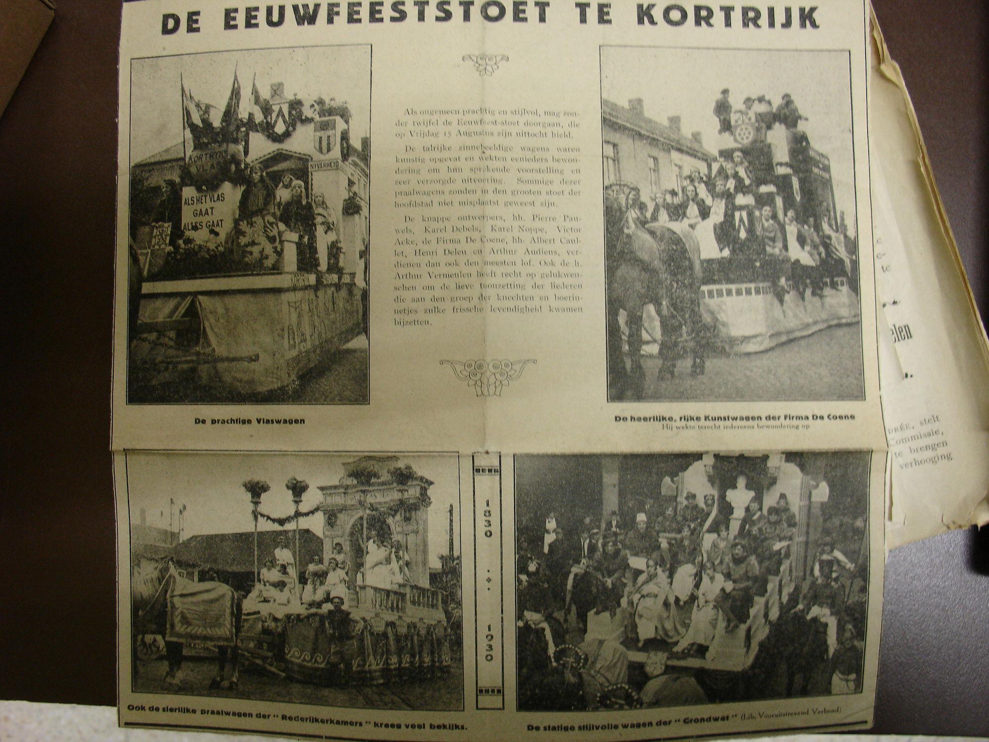 Eeuwfeeststoet 1830 - 1930