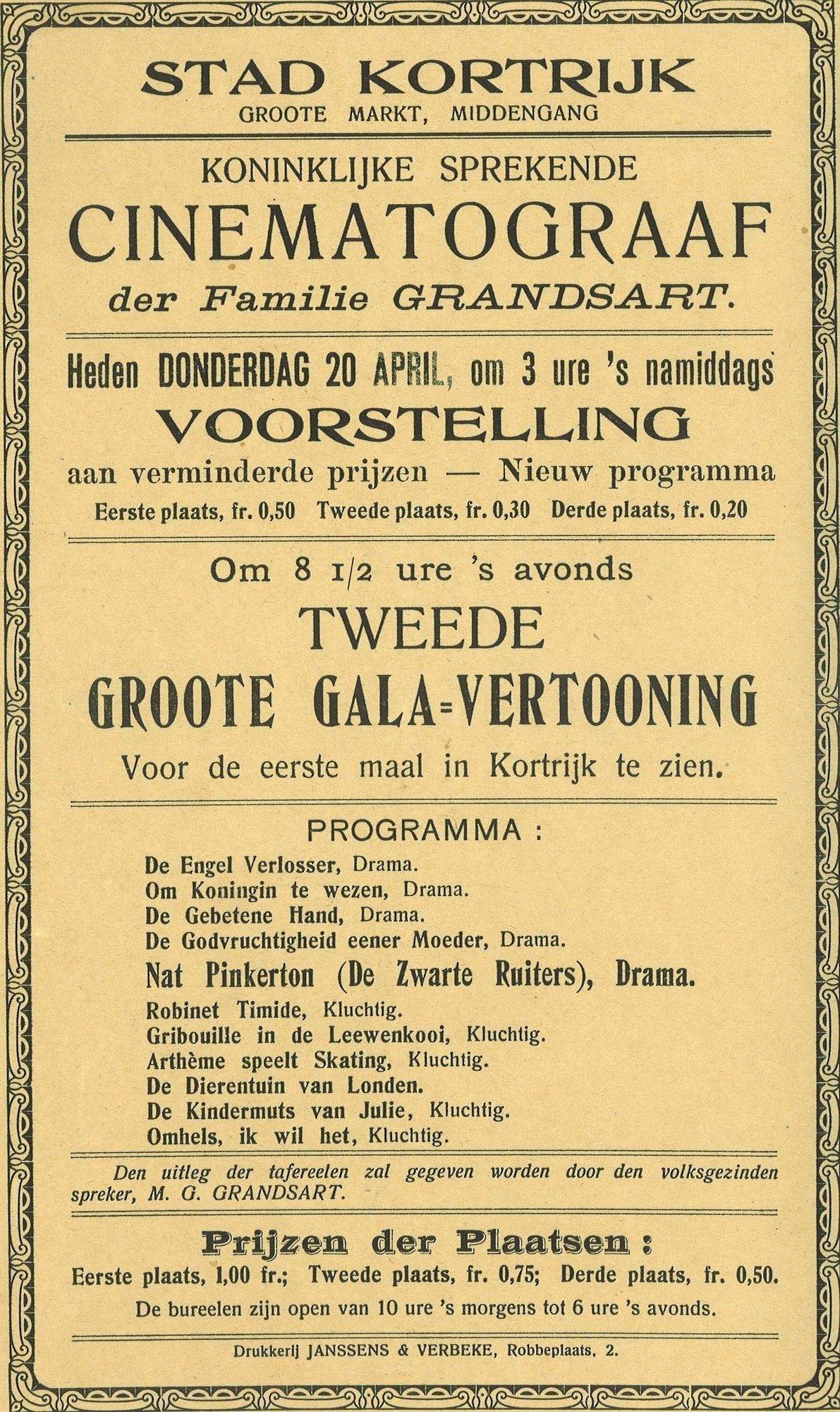 Cinema Parlant van Grandsart
