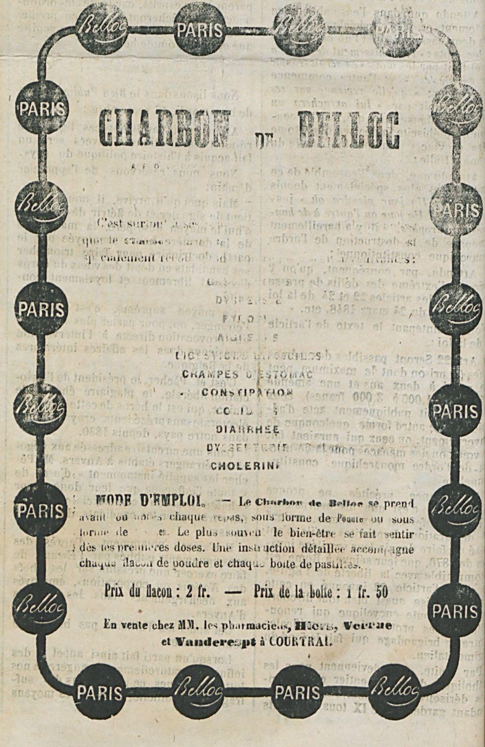 CHARBON  DE  BELLOC