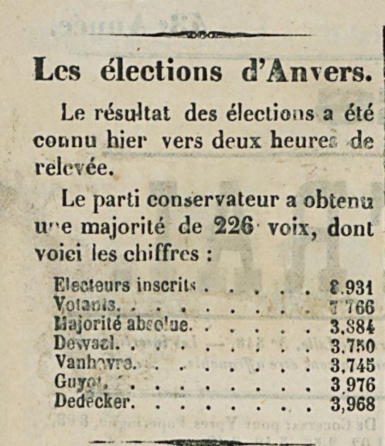 Les élections d'Anvers