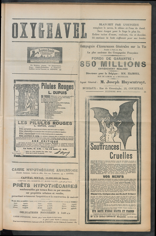 L'echo De Courtrai 1910-07-10 p5