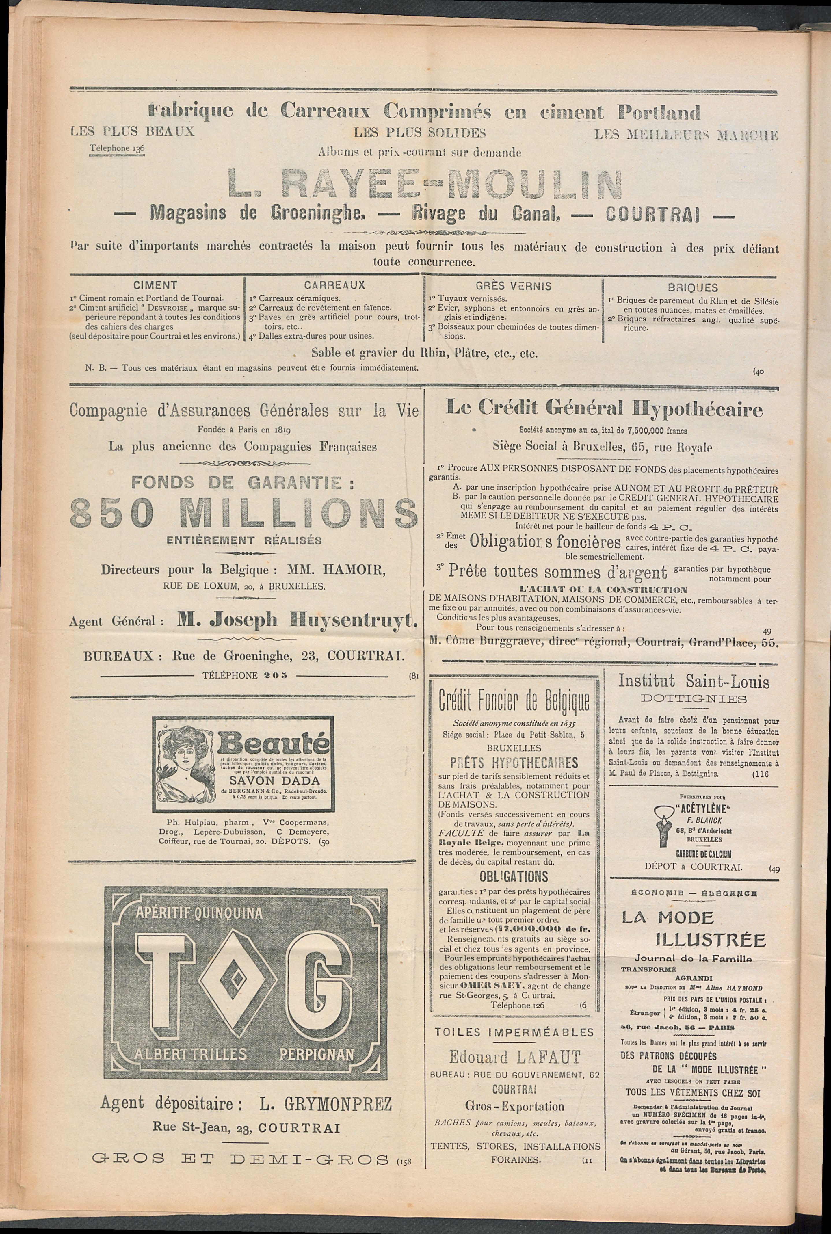 L'echo De Courtrai 1910-04-10 p6