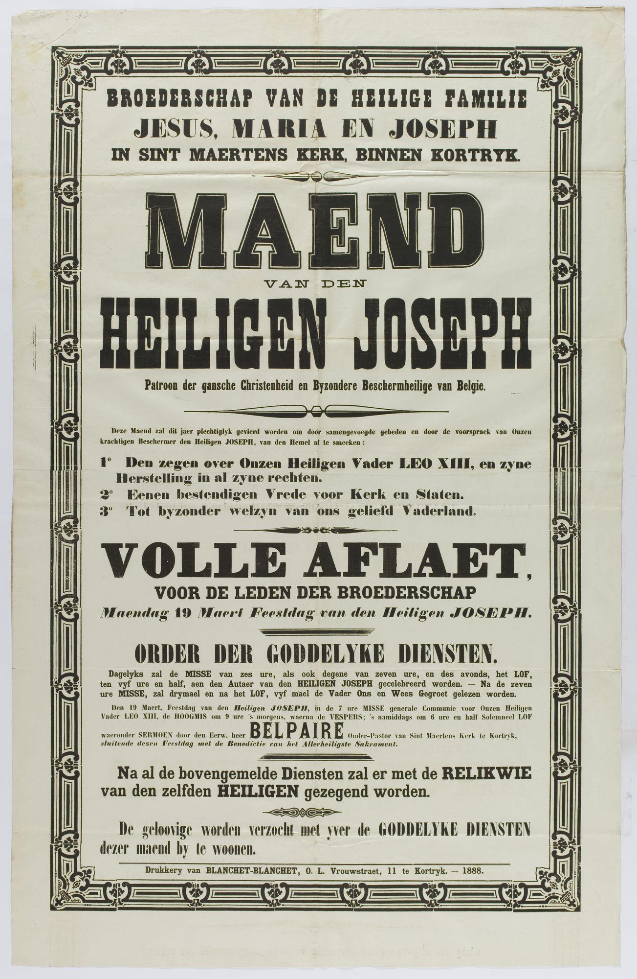 Plechtigheden Sint-Maartenskerk 1888