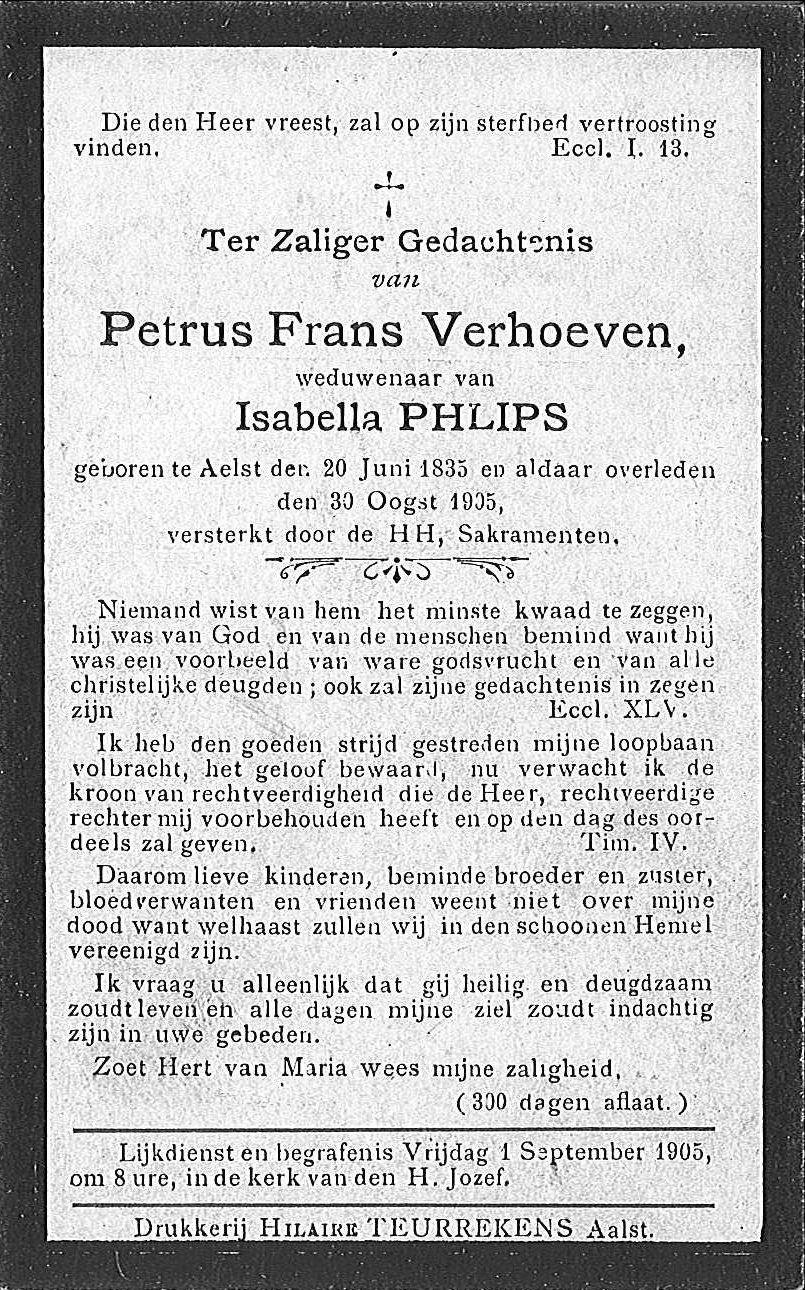 Petrus Frans Verhoeven