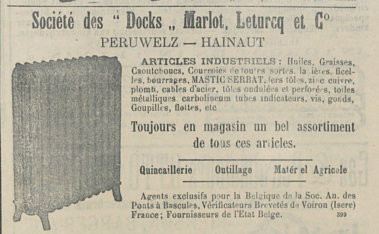 Societe des  Docks  Marlot Leturcq et C°
