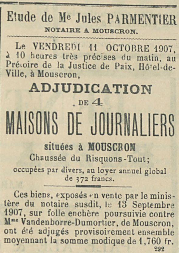MAISONS DE JOURNALIERS