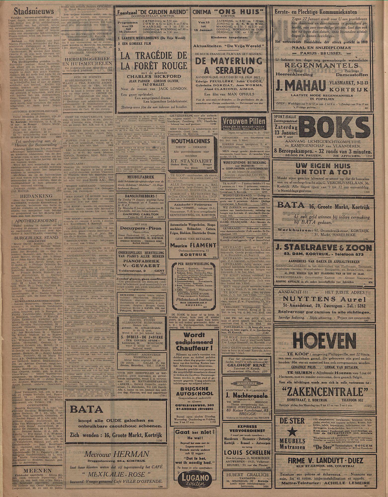 Kortrijksch Handelsblad 13 januari 1945 Nr4 p2