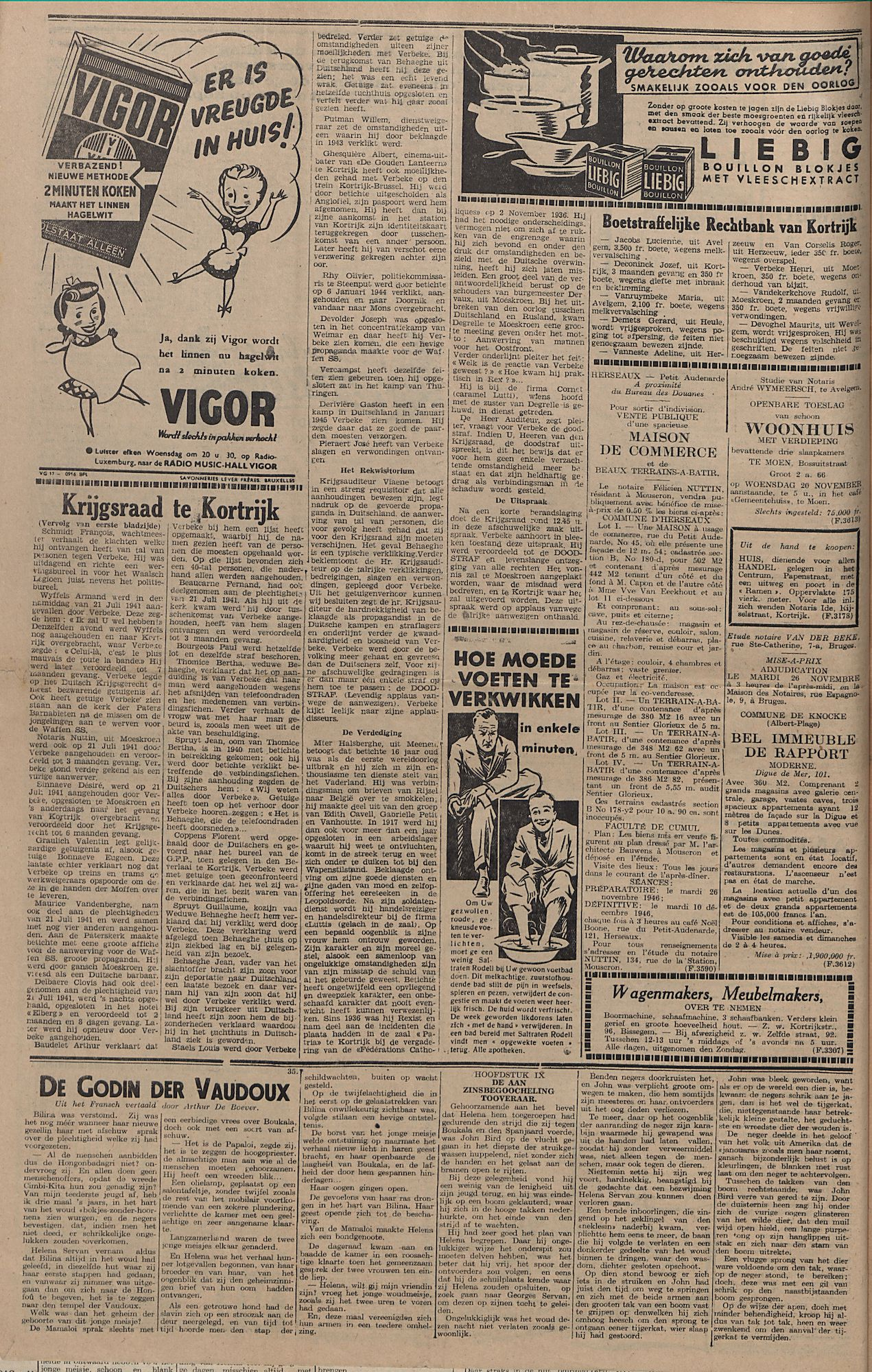 Kortrijksch Handelsblad 19 november 1946 Nr93 p4