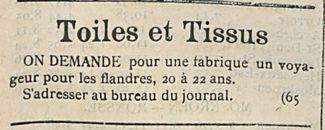 Toiles et Tissus