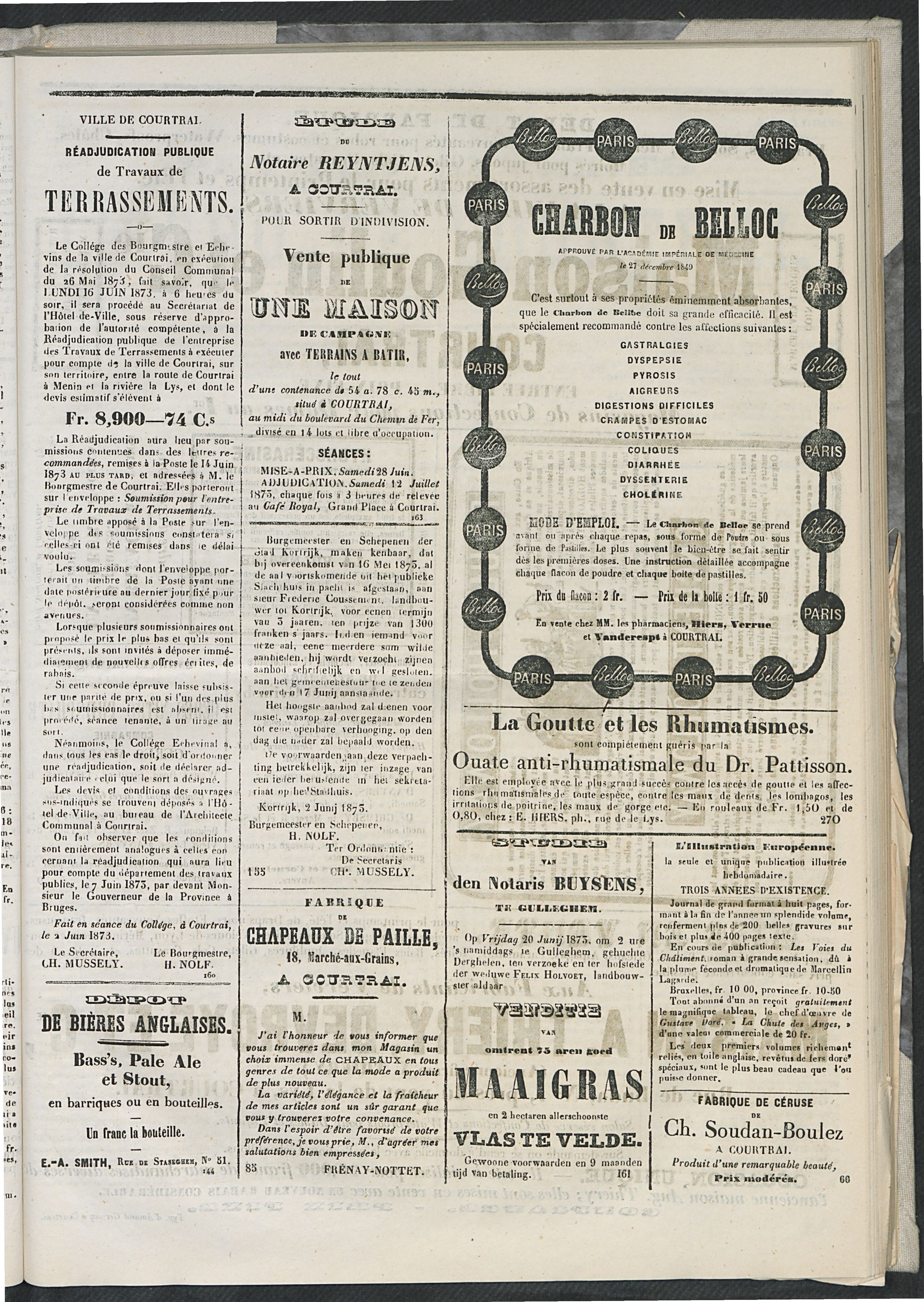 L'echo De Courtrai 1873-06-15 p5