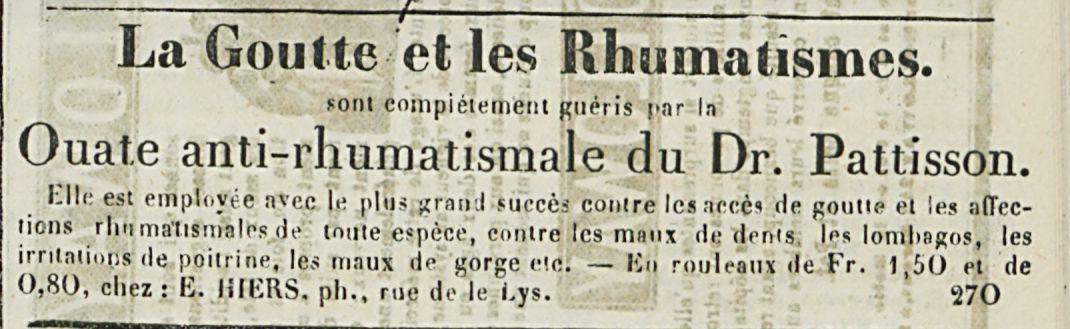 La Goutte et les Rhumatismes.