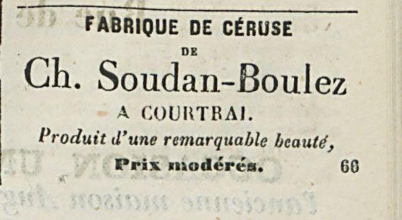 FABRIQUE DE CERUSE Ch. Soudan-Boulez