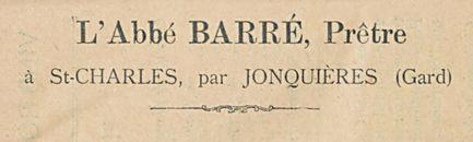 L'Abbe BARRE Pretre