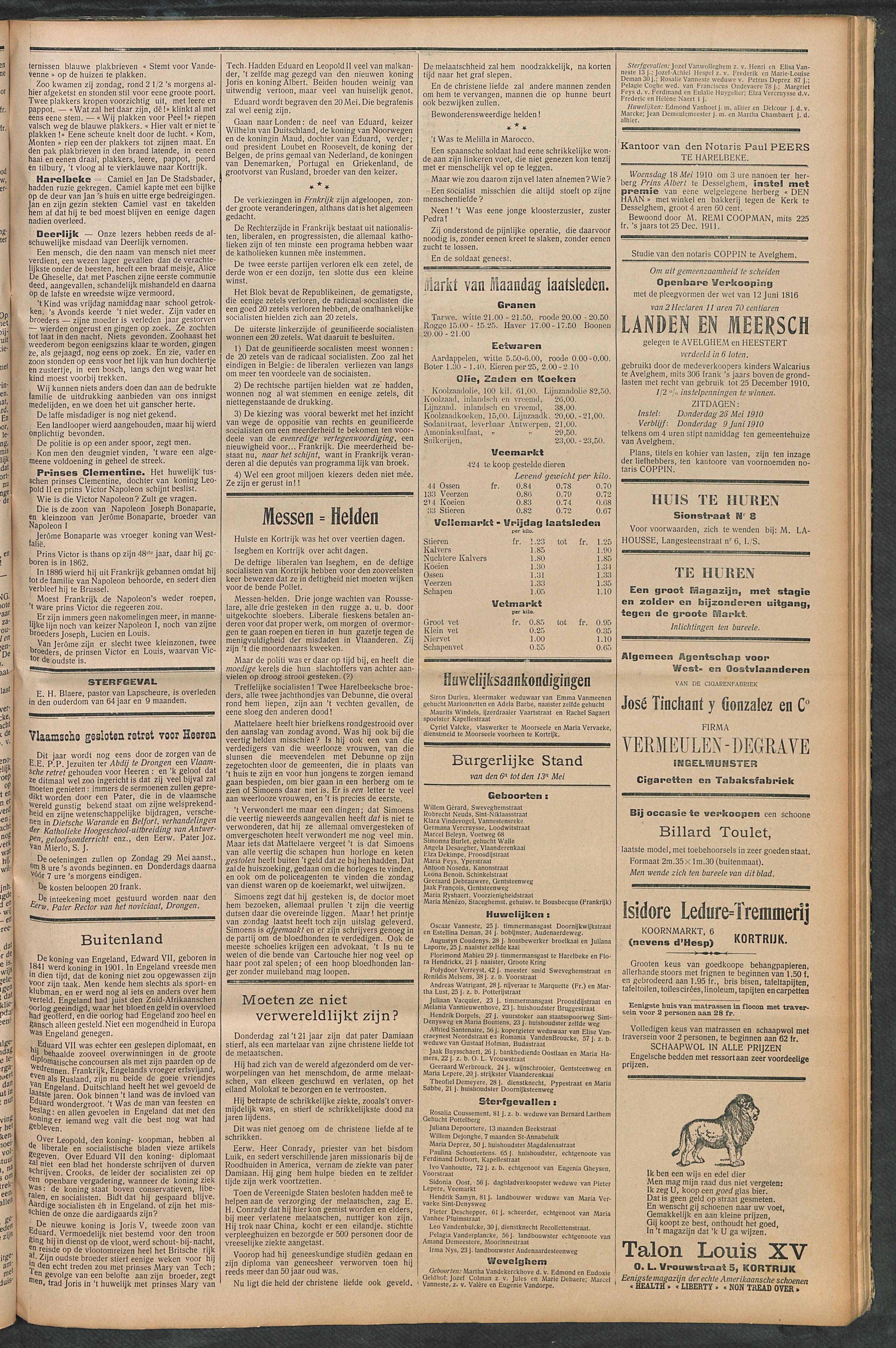 Het Kortrijksche Volk 1910-05-15 p3