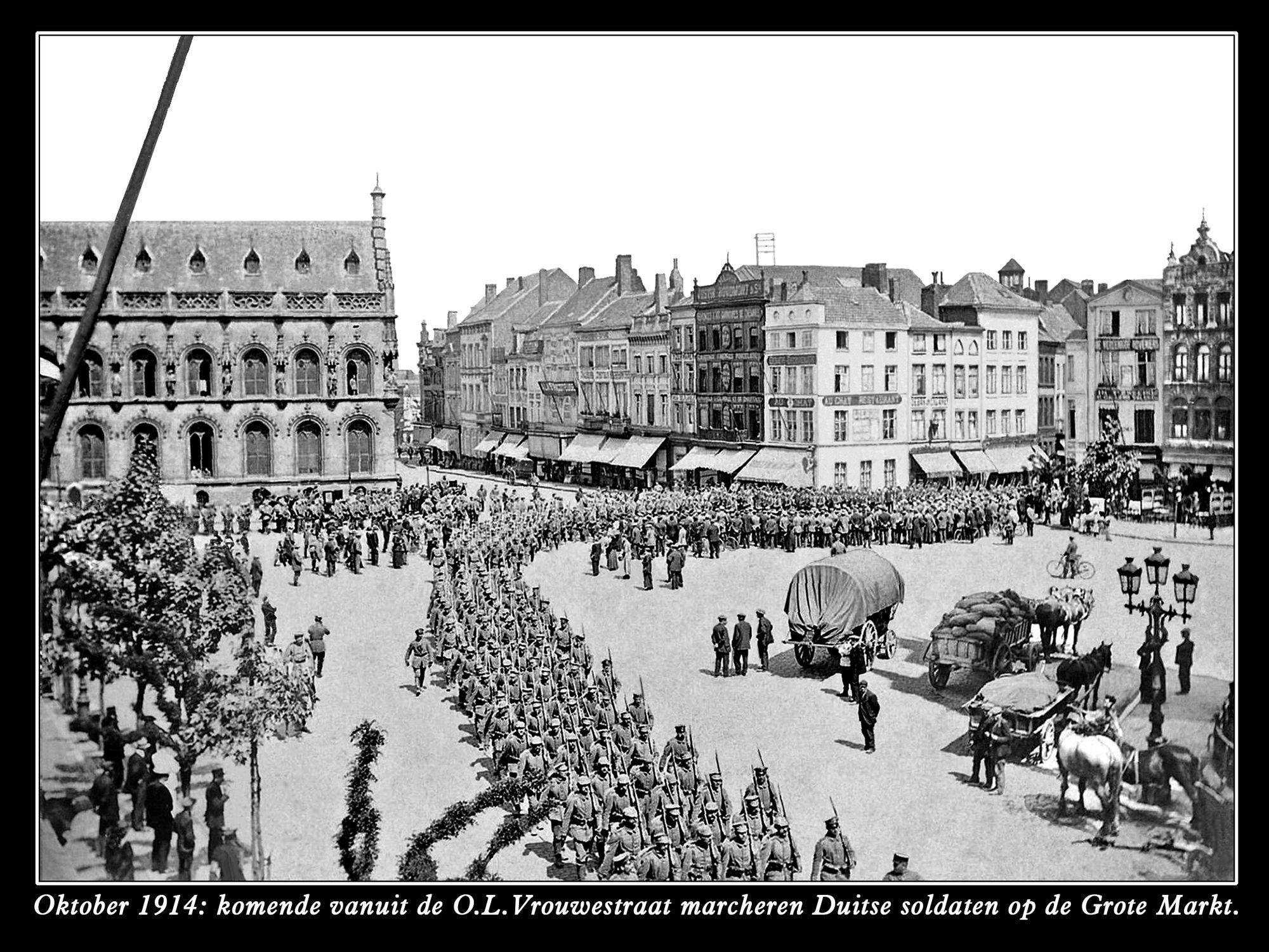 De Grote Markt anno 1914