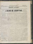 L'echo De Courtrai 1863-09-16