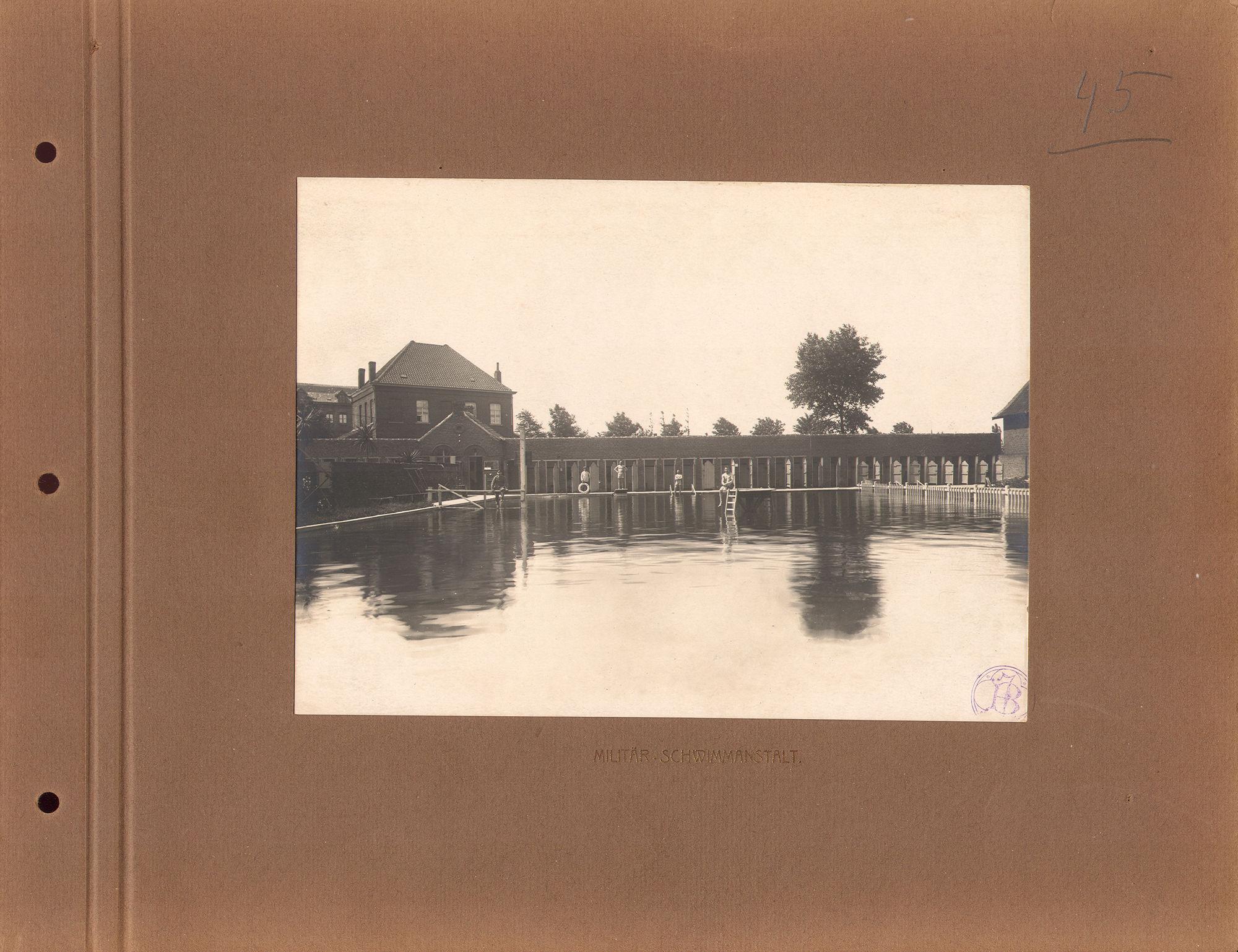 Zwembad Abdijkaai tijdens Wereldoorlog I