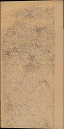 Kaart van de agglomeratie Kortrijk, jaren '60 van de 20ste eeuw