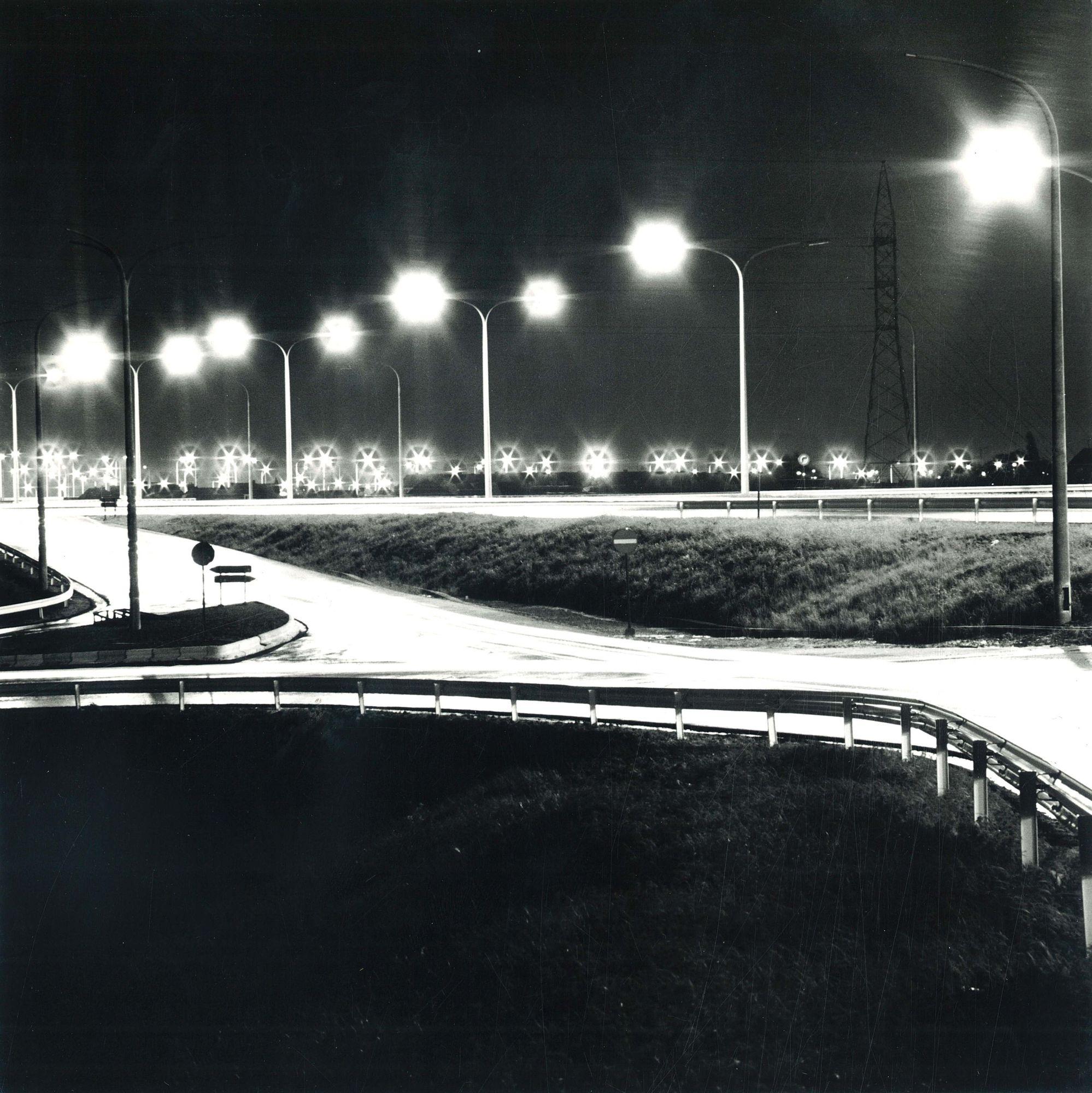 Ringlaan bij nacht 1972