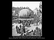 Ballon op de Grote Markt eind 1800
