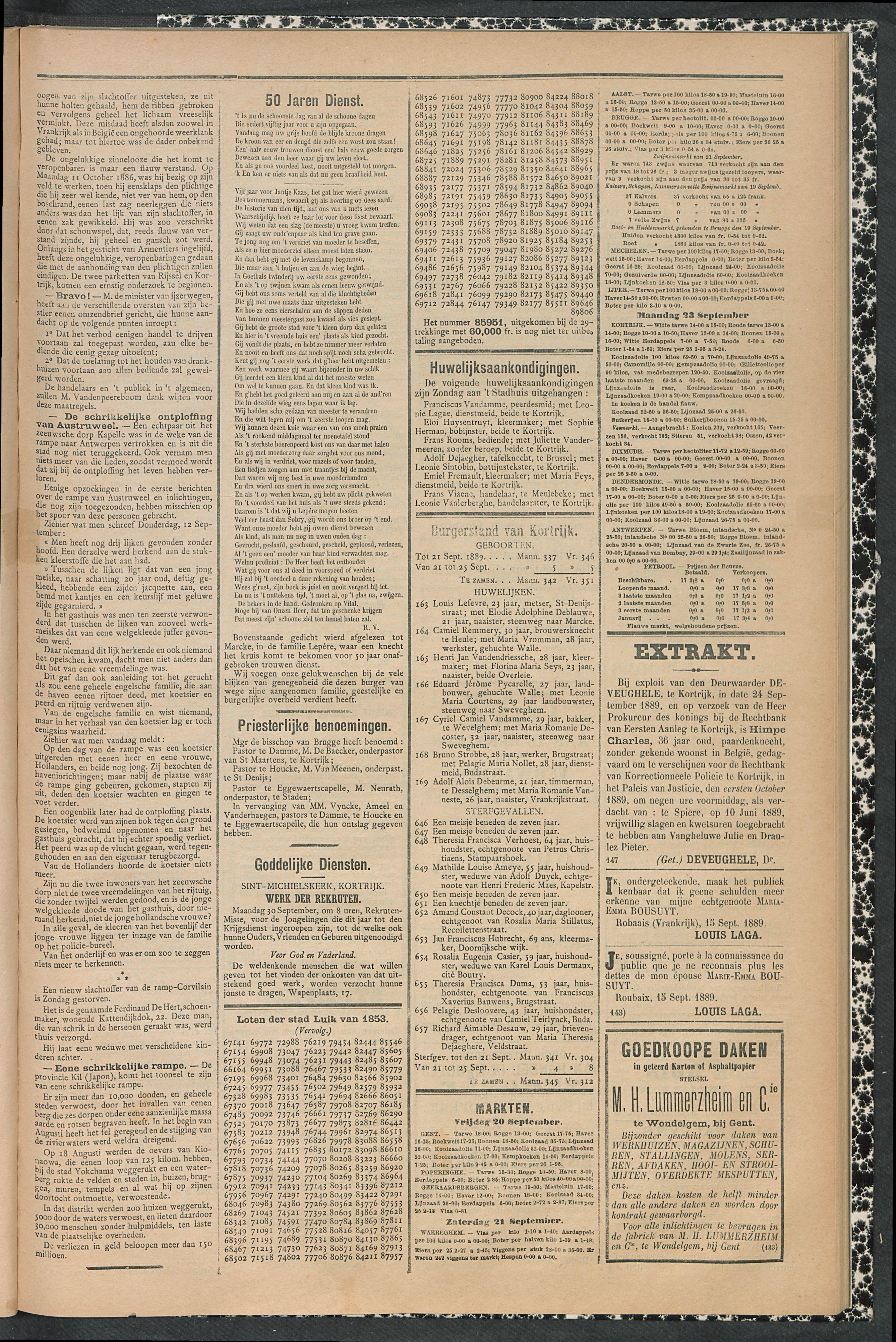 Gazette Van Kortrijk 1889-09-26 p3