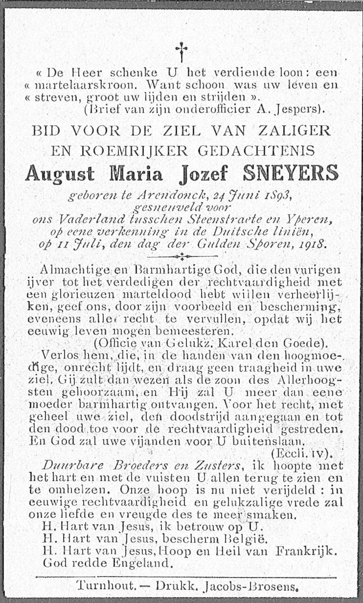 Sneyers August-Maria-Jozef