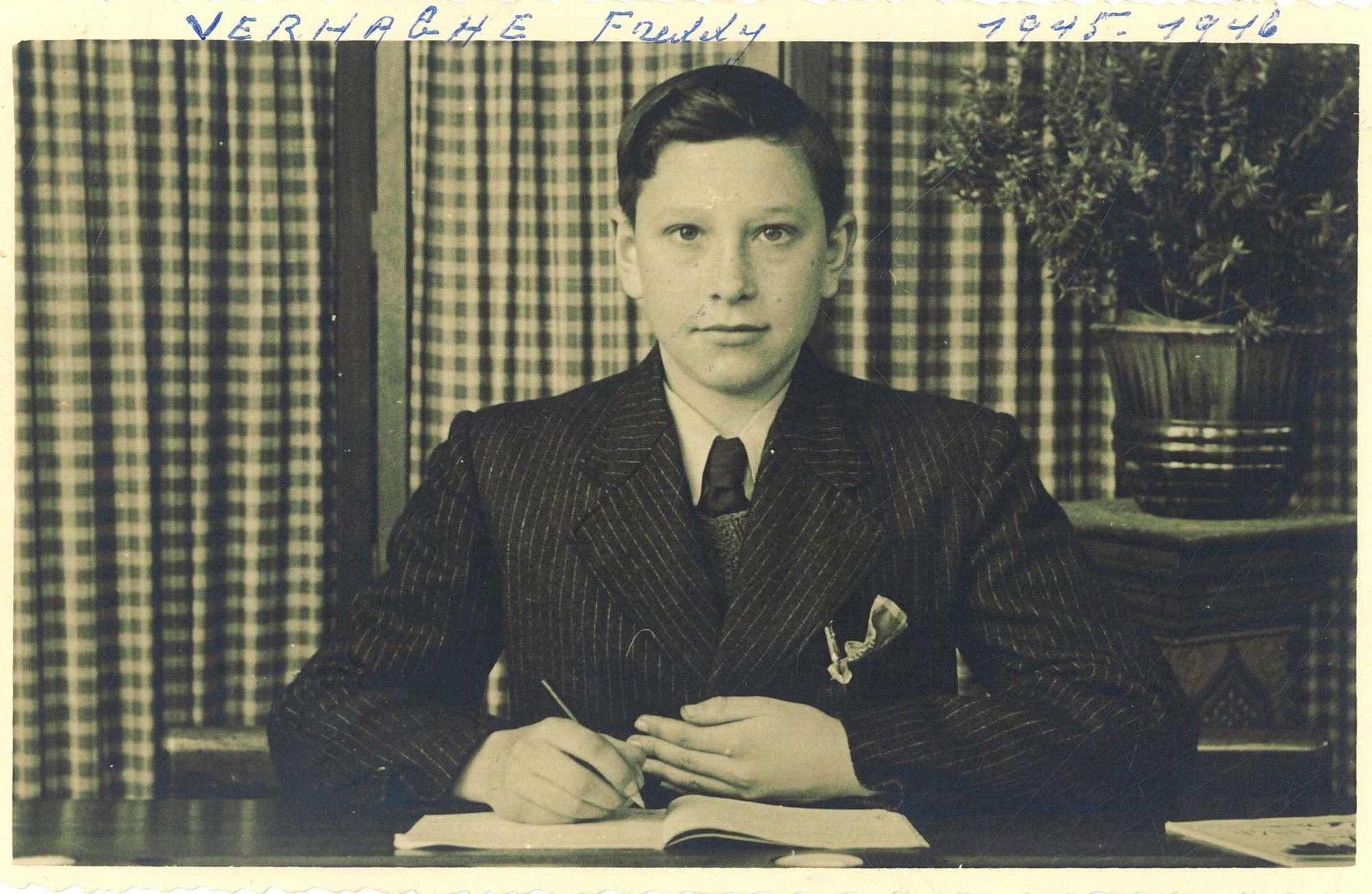 Freddy Verhaeghe, leerling aan de Broederschool Overleie