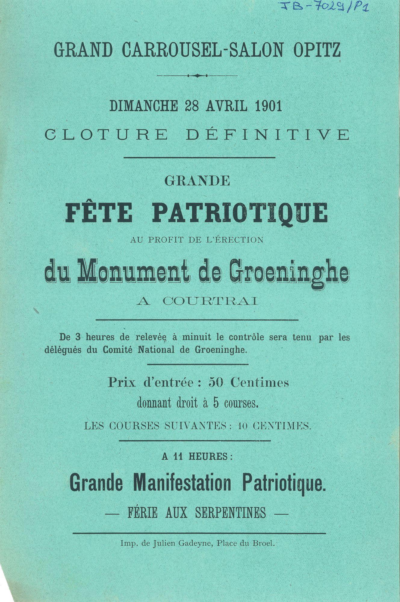 Paasfoor 1901: Grand Carrousel-Salon Opitz