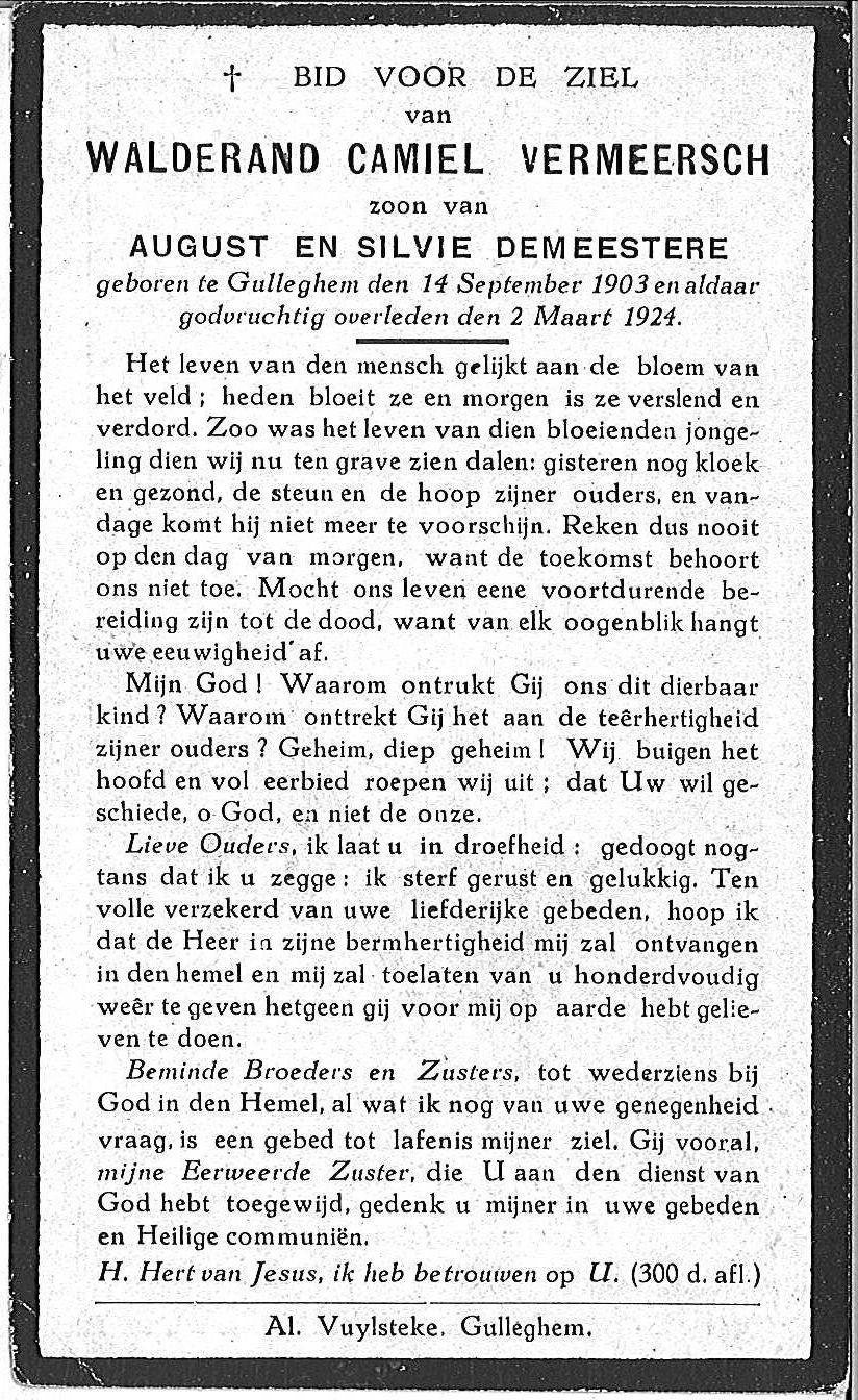 Walderand Camiel Vermeersch