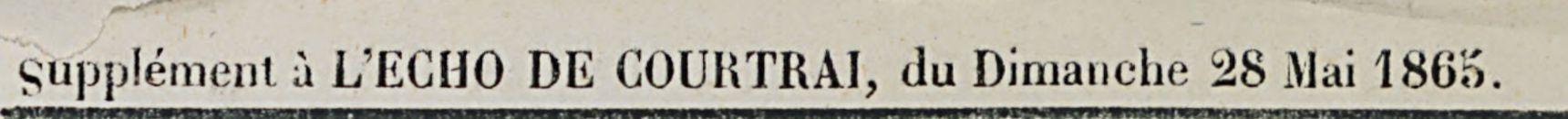 Supplement a L'ECHO DE COURTRAI