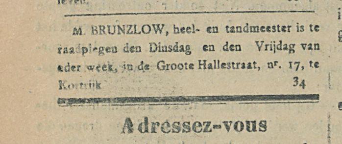 M BRUNZLOW