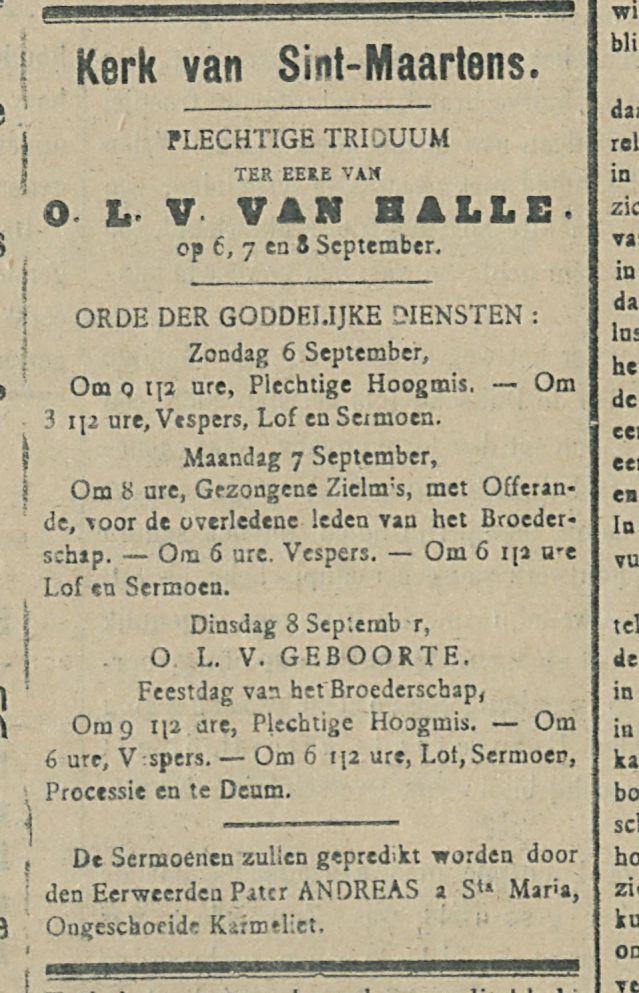 O L V VAN HALLE