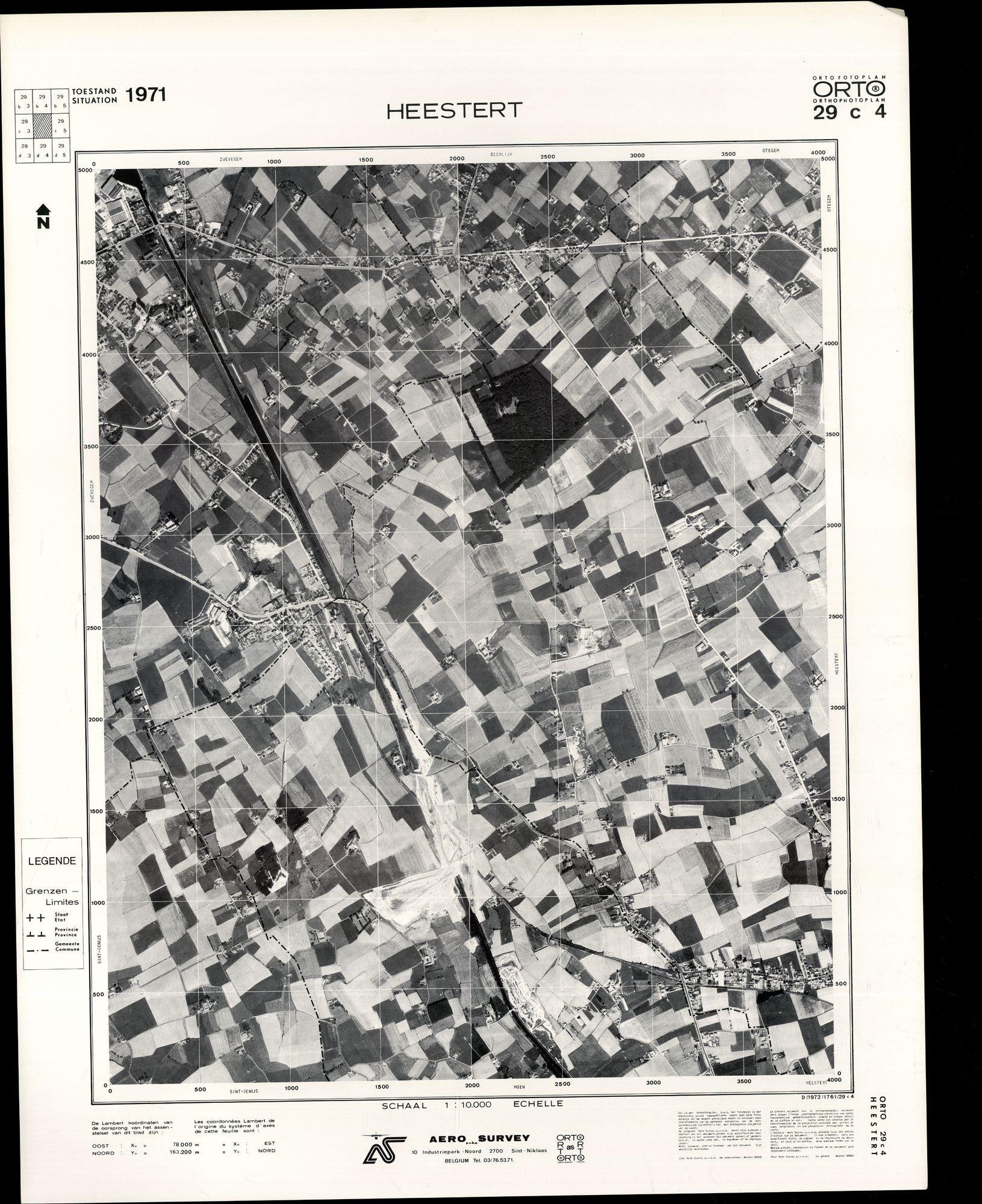 Luchtfoto Heestert 1971
