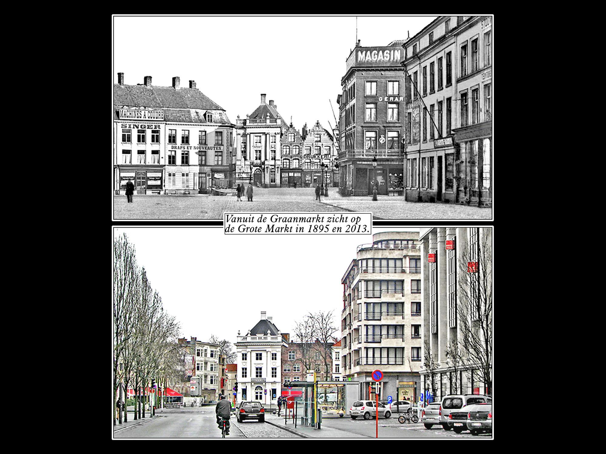 Graanmarkt anno 1895 en 2013