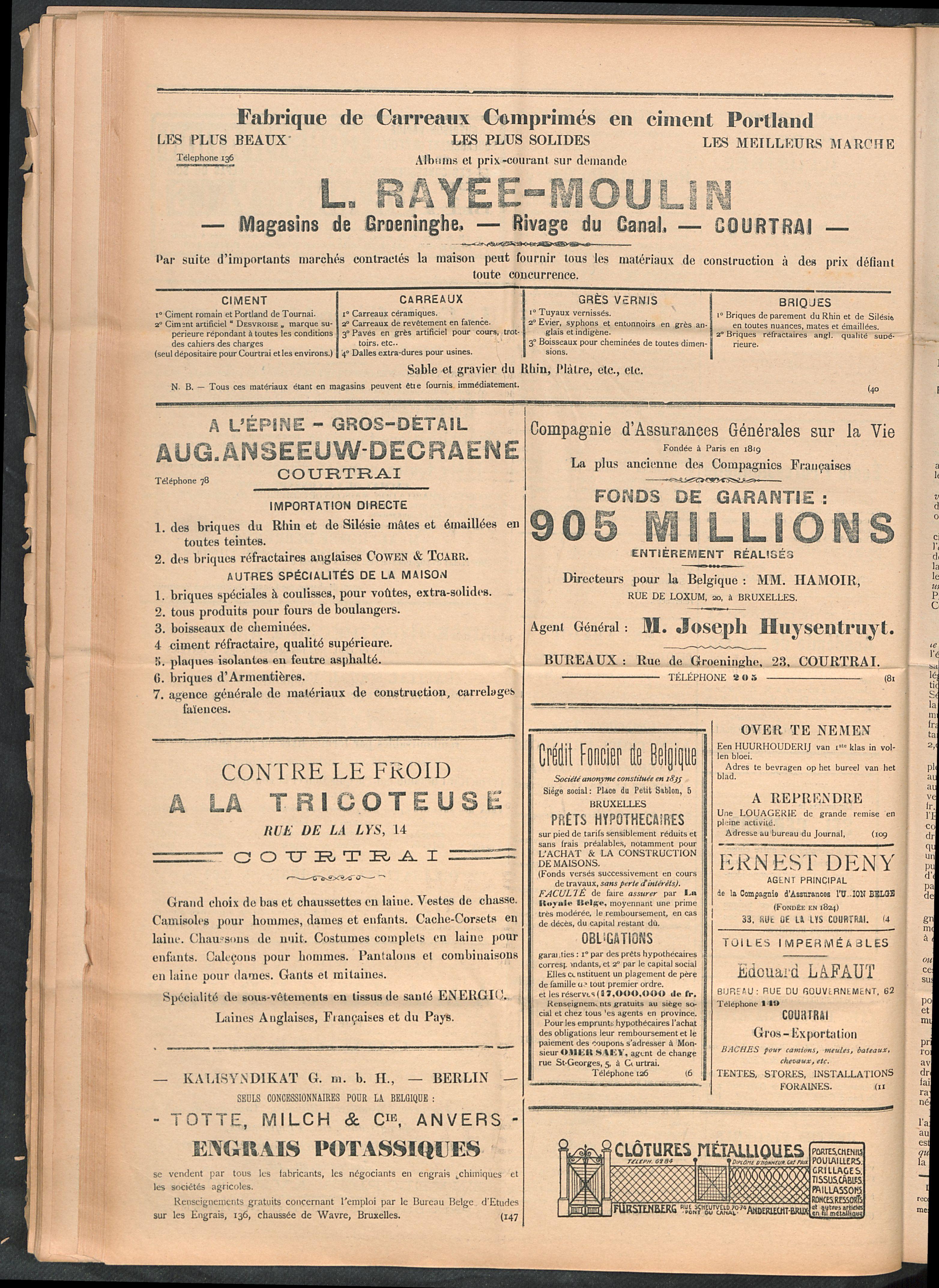 L'echo De Courtrai 1911-10-12 p4