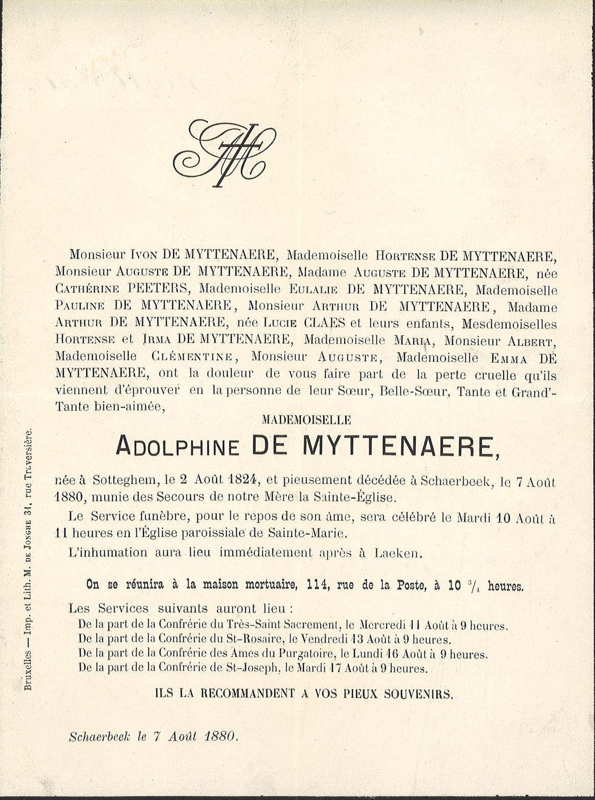 Adolphine De Myttenaere