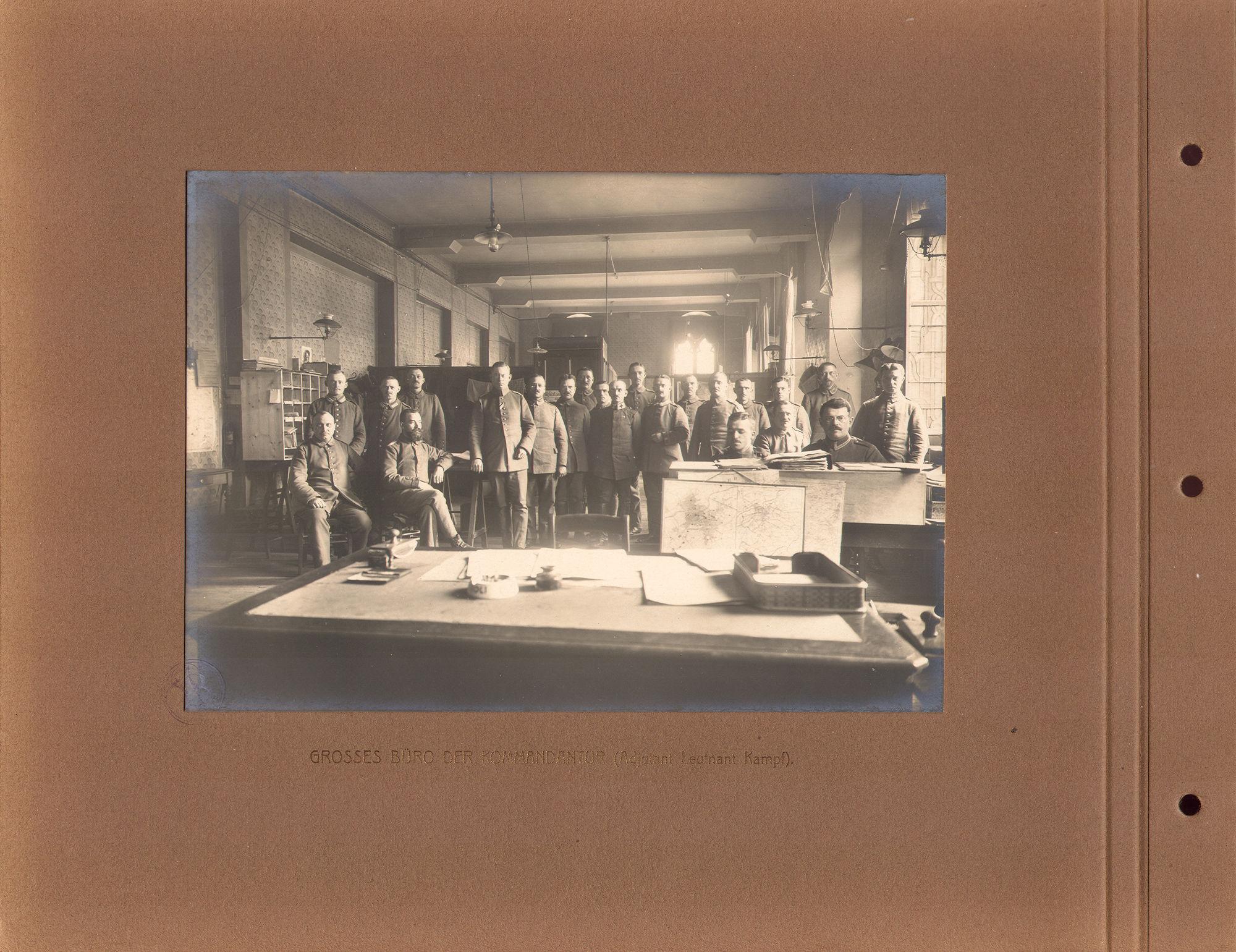 Bureau Duitse bezetter in 1916