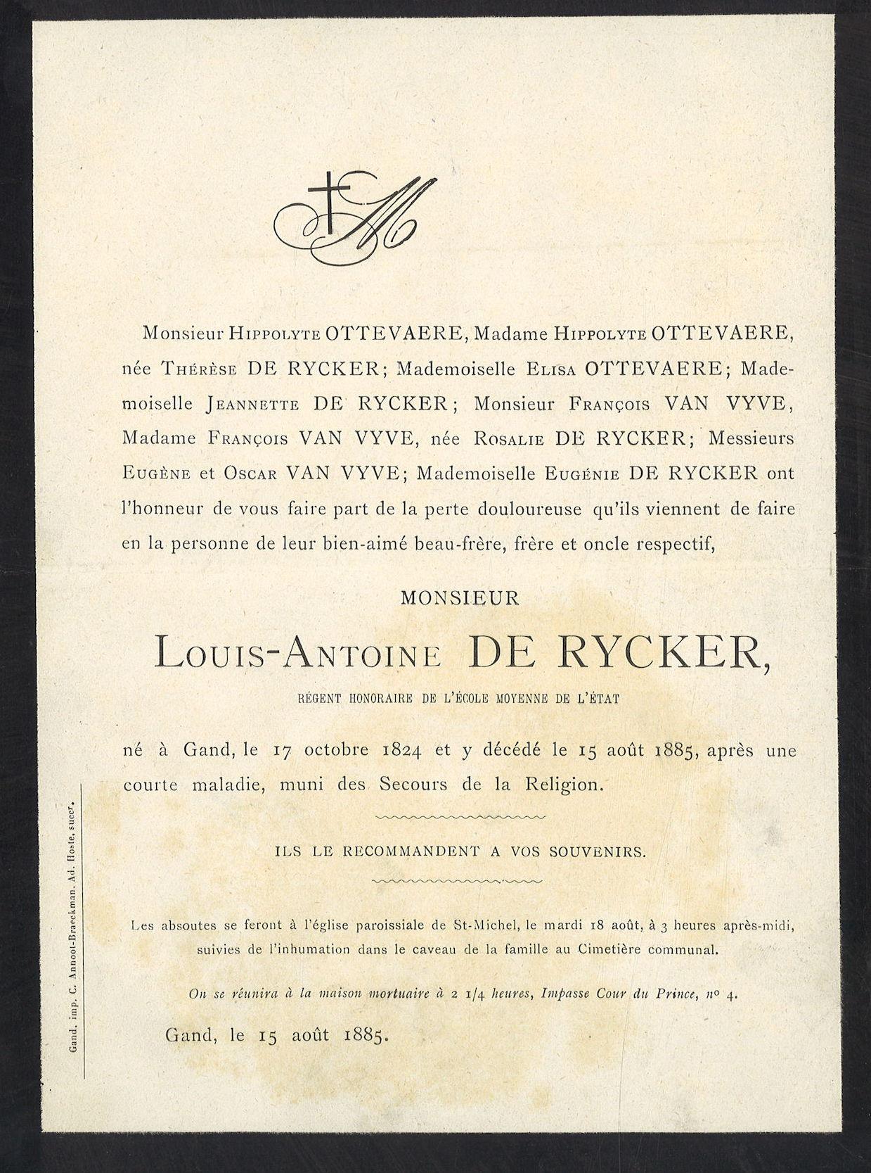 Louis-Antoine De Rycker