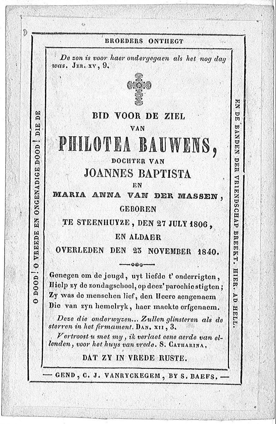 Philotea Bauwens