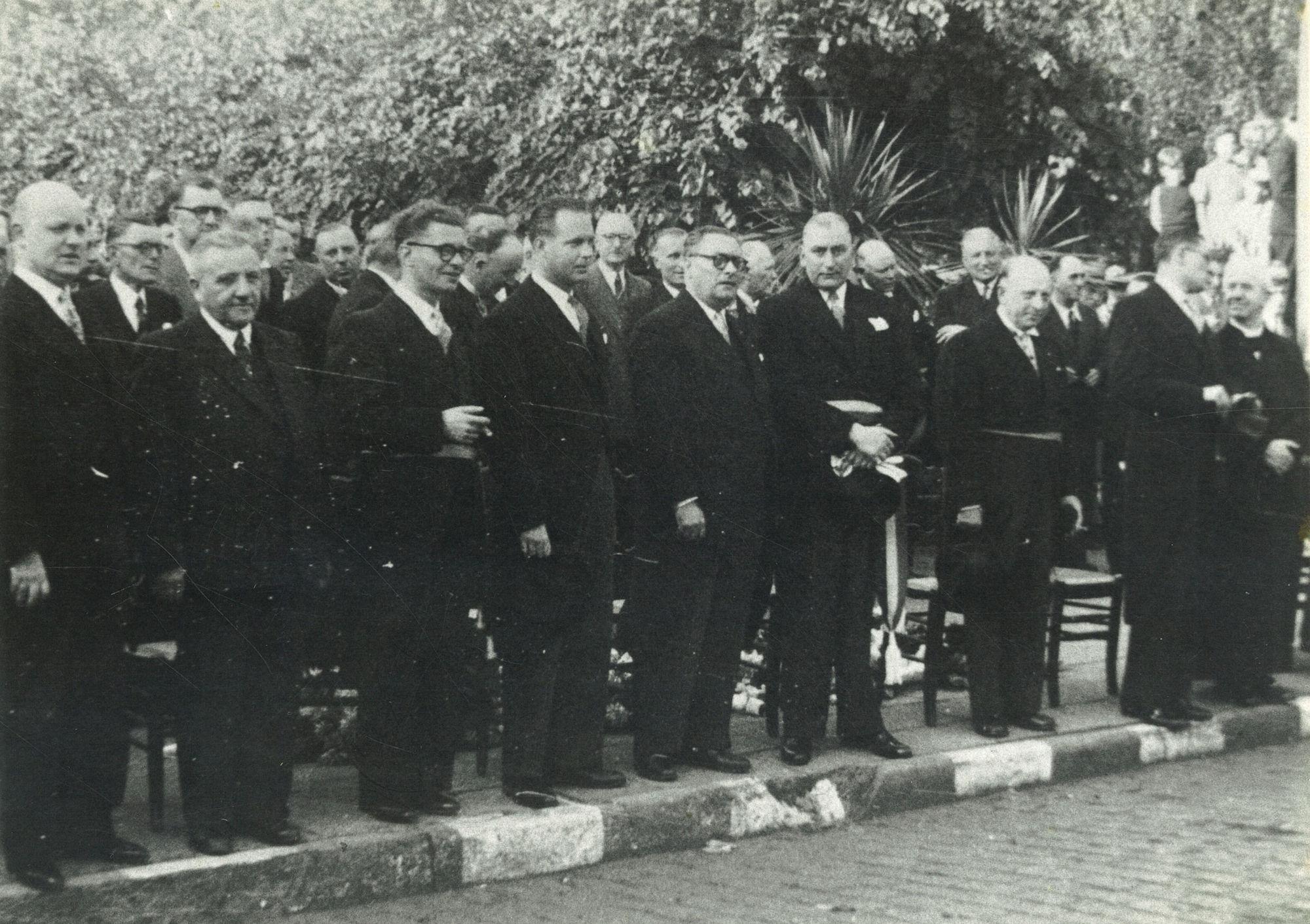 Inhuldiging burgemeester Alfred De Taeye