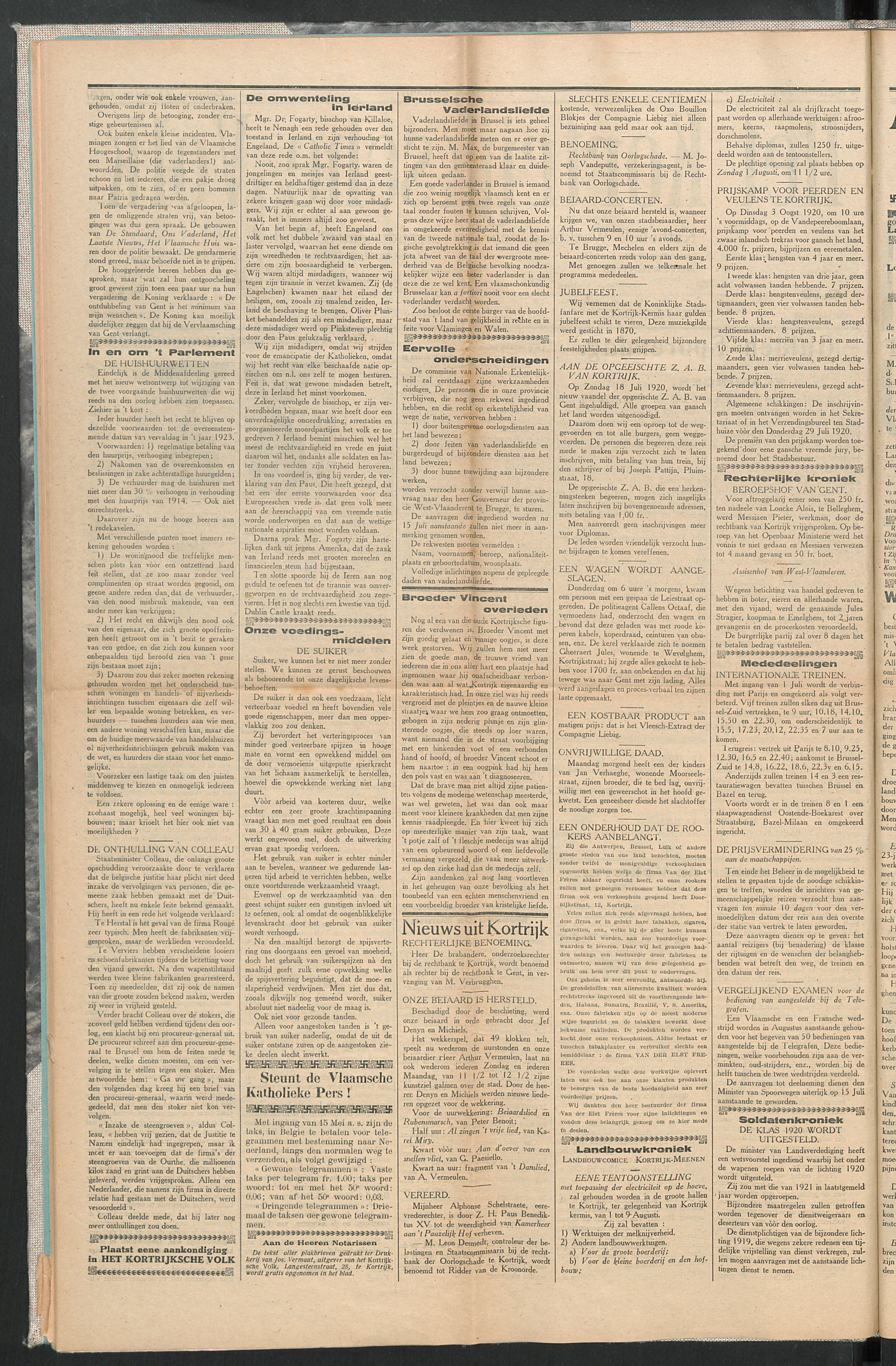 Het Kortrijksche Volk 1920-06-27 p2