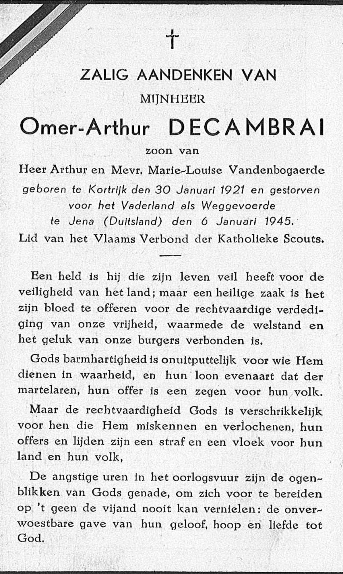 Omer-Arthur Decambrai