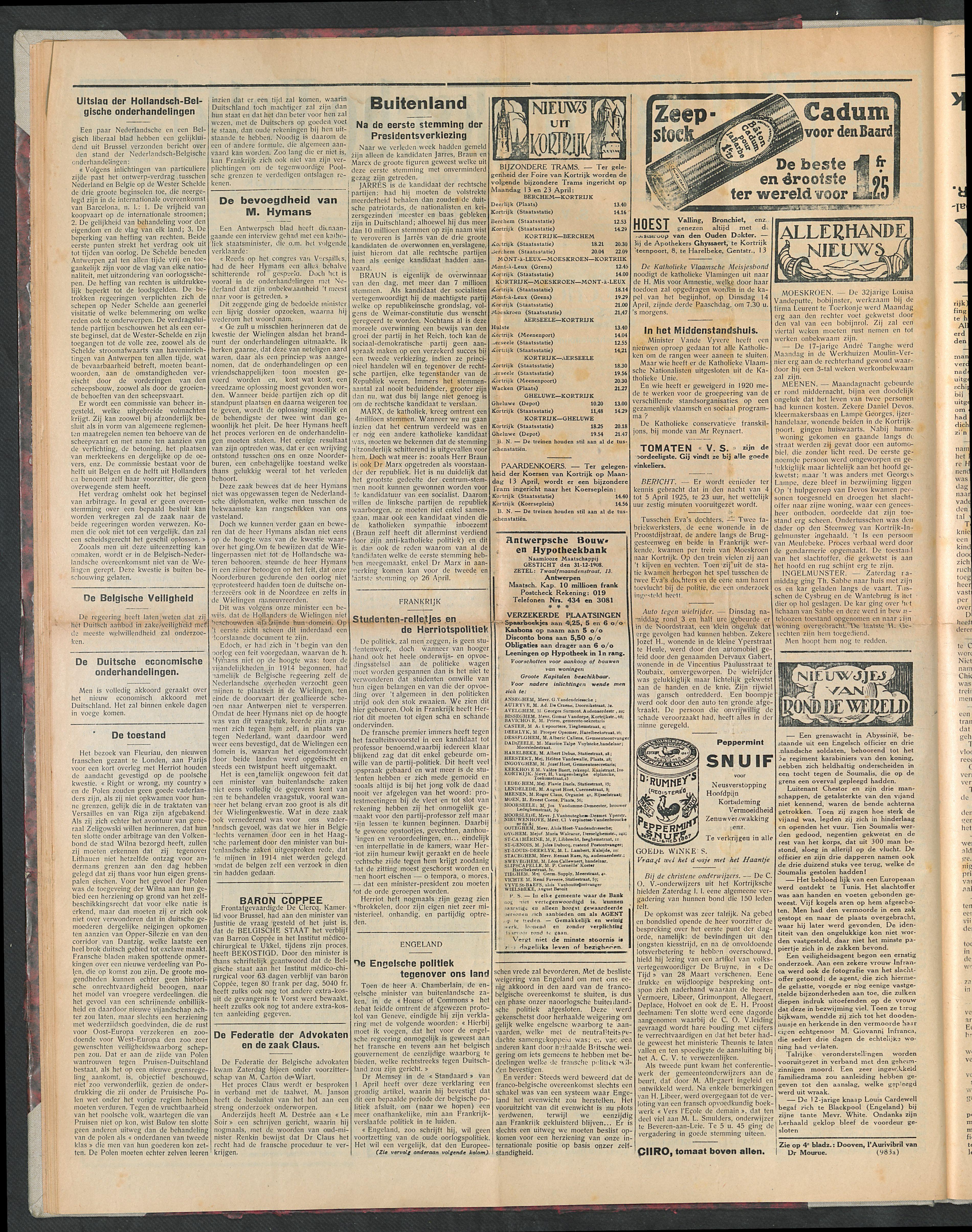 Het Kortrijksche Volk 1925-04-05 p2