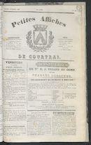Petites Affiches De Courtrai 1836-11-03