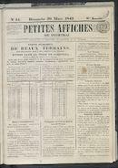 Petites Affiches De Courtrai 1842-03-20