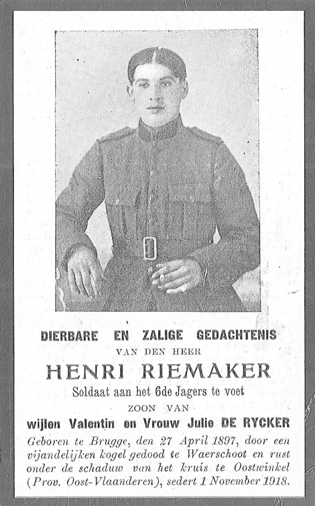 Riemaker Henri