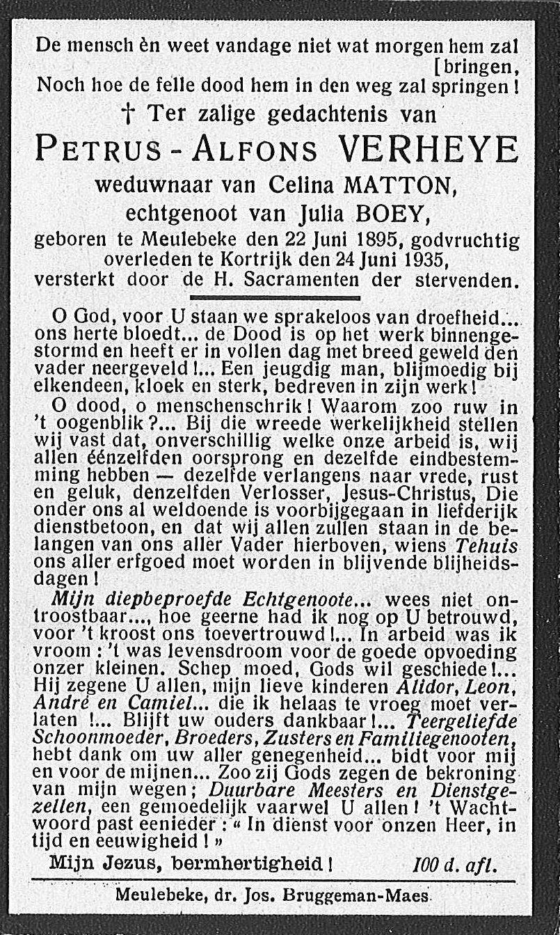 Petrus-Alfons Verheye