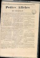 Petites Affiches De Courtrai 1835-10-25 p1