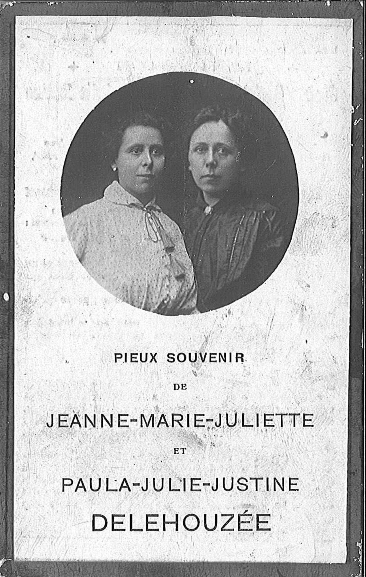 Delehouzée jeanne-Marie-Juliette en Paula-Julie-Justine