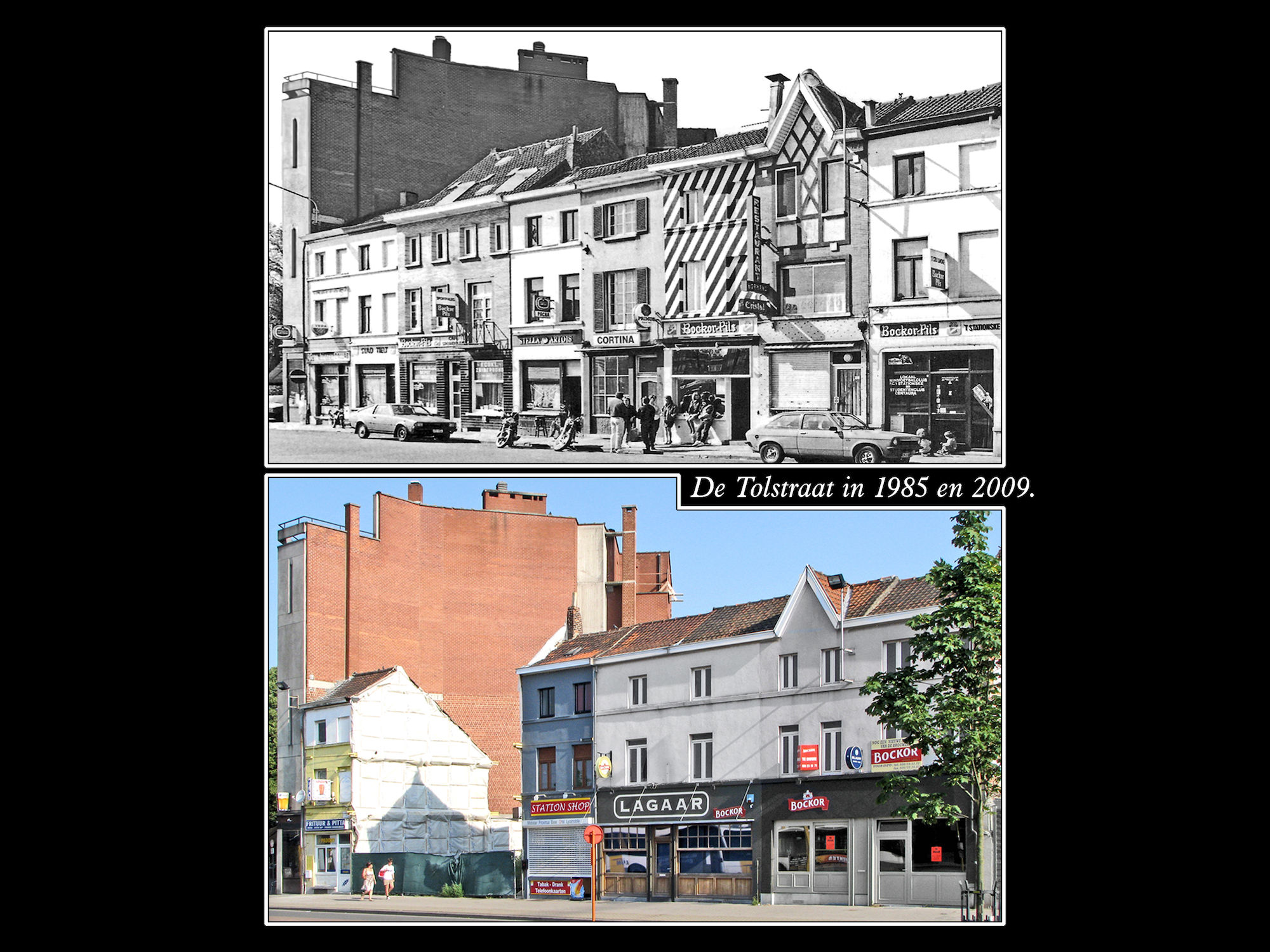 Tolstraat 1985 en 2009
